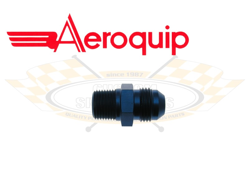 Aeroquip 1012-06AN Straight Hose End Red//Blue