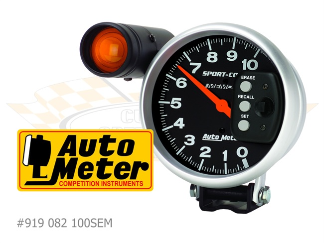 AUTOMETER Tachometer with external Shift Light and Memory