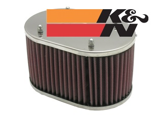K&N Filter oval. 100mm height