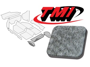 Rear Well Carpet Kit Beetle Convertible 1303 #grey