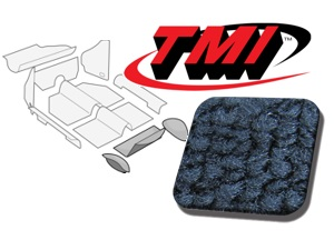 Rear Well Carpet Kit Beetle '54-'56