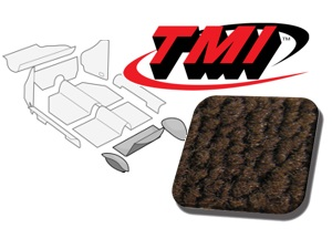 Rear Well Carpet Kit Beetle Convertible 1303 #brown