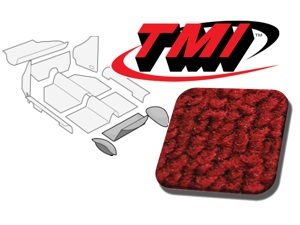 Rear Well Carpet Kit Beetle Convertible 1303 #red