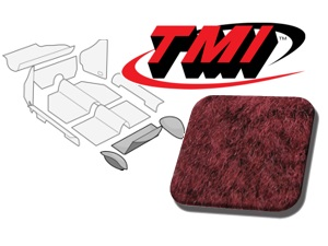 Rear Well Carpet Kit Beetle Convertible 1303 #maroon