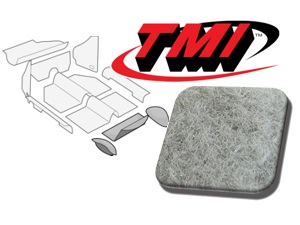 Rear Well Carpet Kit Beetle Convertible 1303 #silver