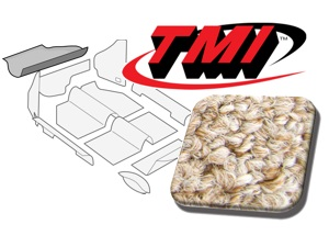 Trunk Carpet Kit Beetle '60-'67 #oatmeal