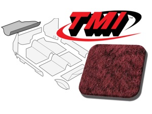 Trunk Carpet Kit Beetle '60-'67 #maroon