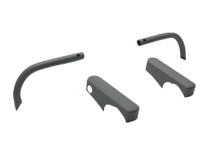 Overriders and Bumper Guards for U.S. Style Bumper hinten