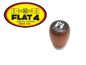 Shift Knob, Wood with Wolfsburg Badge
