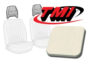 Head Rest Covers Bus '77-'79 chalk white