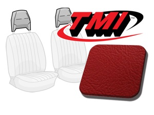 Head Rest Covers Bus '77-'79 bright red