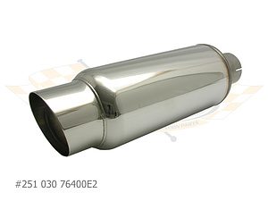 Universal Muffler with Tail Pipe