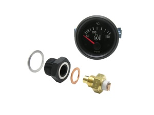 Oil Temp Sender with Type-4 Adapter and Gauge
